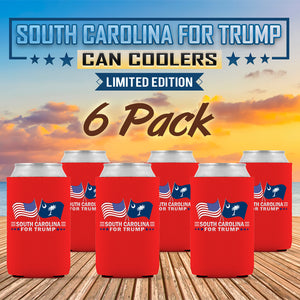 South Carolina For Trump Limited Edition Can Cooler 6 Pack