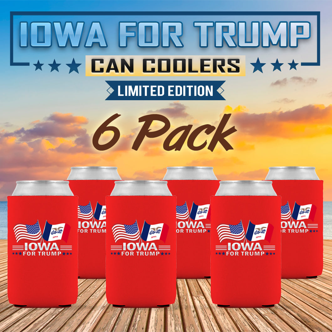 Iowa For Trump Limited Edition Can Cooler 6 Pack
