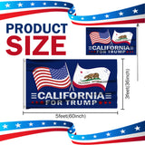 California For Trump 3 x 5 Flag - Limited Edition Dual Flags Sale