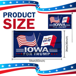 Iowa For Trump 3 x 5 Flag - Limited Edition Dual Flags