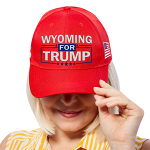 Wyoming For Trump Limited Edition Embroidered Hat Lowest Price Ever!