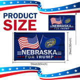 Nebraska For Trump 3 x 5 Flag - Limited Edition Dual Flags Lowest Price Ever!