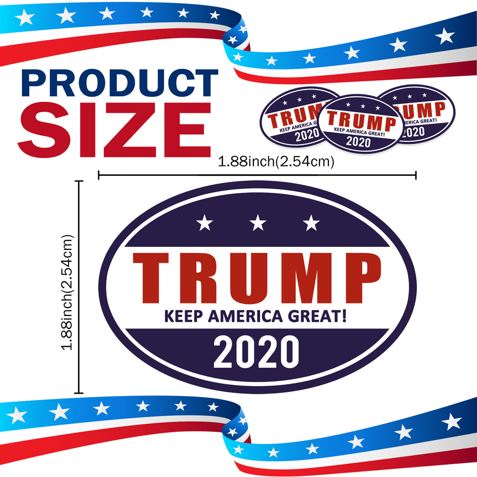 Trump 2020 Make America Great Oval Shaped Car Magnet