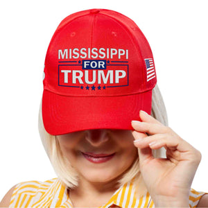 Mississippi For Trump Limited Edition Embroidered Hat Lowest Price Ever!
