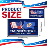 Minnesota For Trump 3 x 5 Flag - Limited Edition Dual Flags Sale