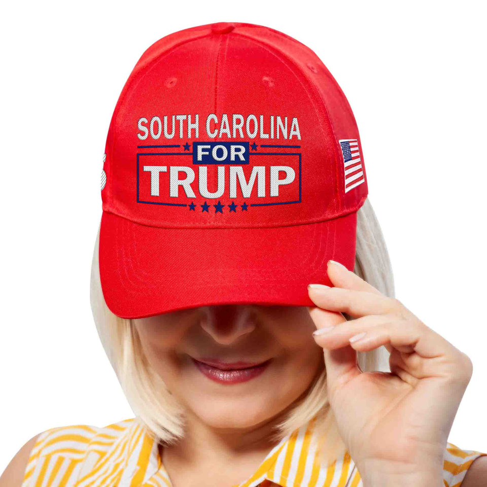 South Carolina For Trump Limited Edition Embroidered Hat Lowest Price Ever!