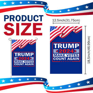 Trump 2024 Make Votes Count Again Limited Edition Yard Flag