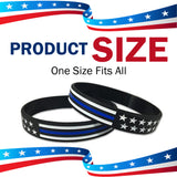 Thin Blue Line Back The Blue Silicone Wristbands