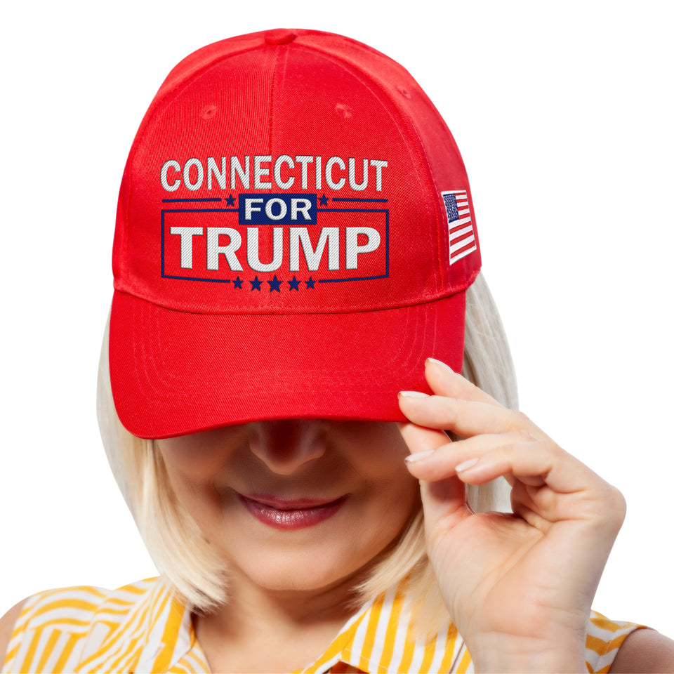 Connecticut For Trump Limited Edition Embroidered Hat Lowest Price Ever!