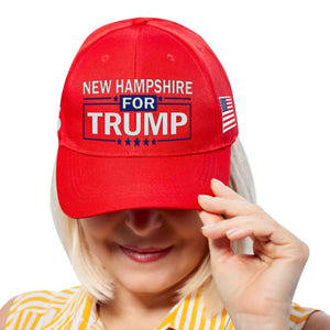 New Hampshire For Trump Limited Edition Embroidered Hat