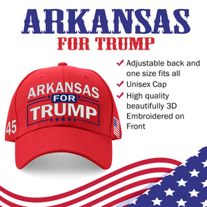 Arkansas For Trump Limited Edition Embroidered Hat Lowest Price Ever!