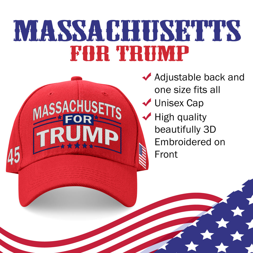 Massachusetts For Trump Limited Edition Embroidered Hat