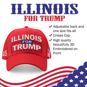 Illinois For Trump Limited Edition Embroidered Hat Lowest Price Ever!