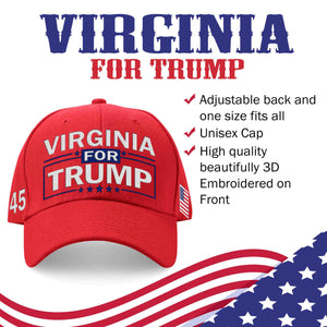 Virginia For Trump Limited Edition Embroidered Hat Sale
