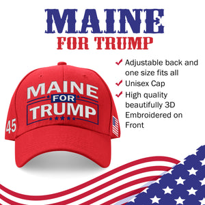 Maine For Trump Limited Edition Embroidered Hat Sale