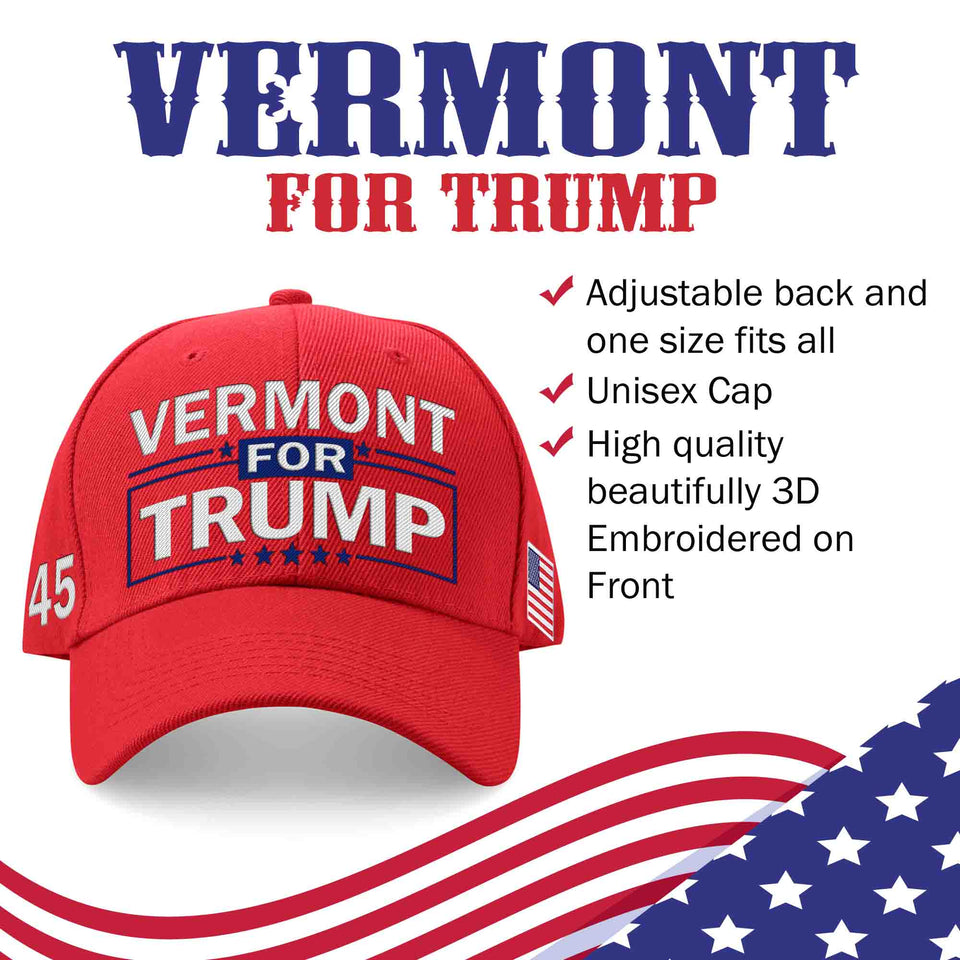 Vermont For Trump Limited Edition Embroidered Hat Lowest Price Ever!