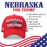 Nebraska For Trump Limited Edition Embroidered Hat