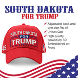 South Dakota For Trump Limited Edition Embroidered Hat Lowest Price Ever!