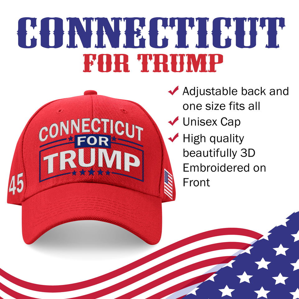 Connecticut For Trump Limited Edition Embroidered Hat Sale