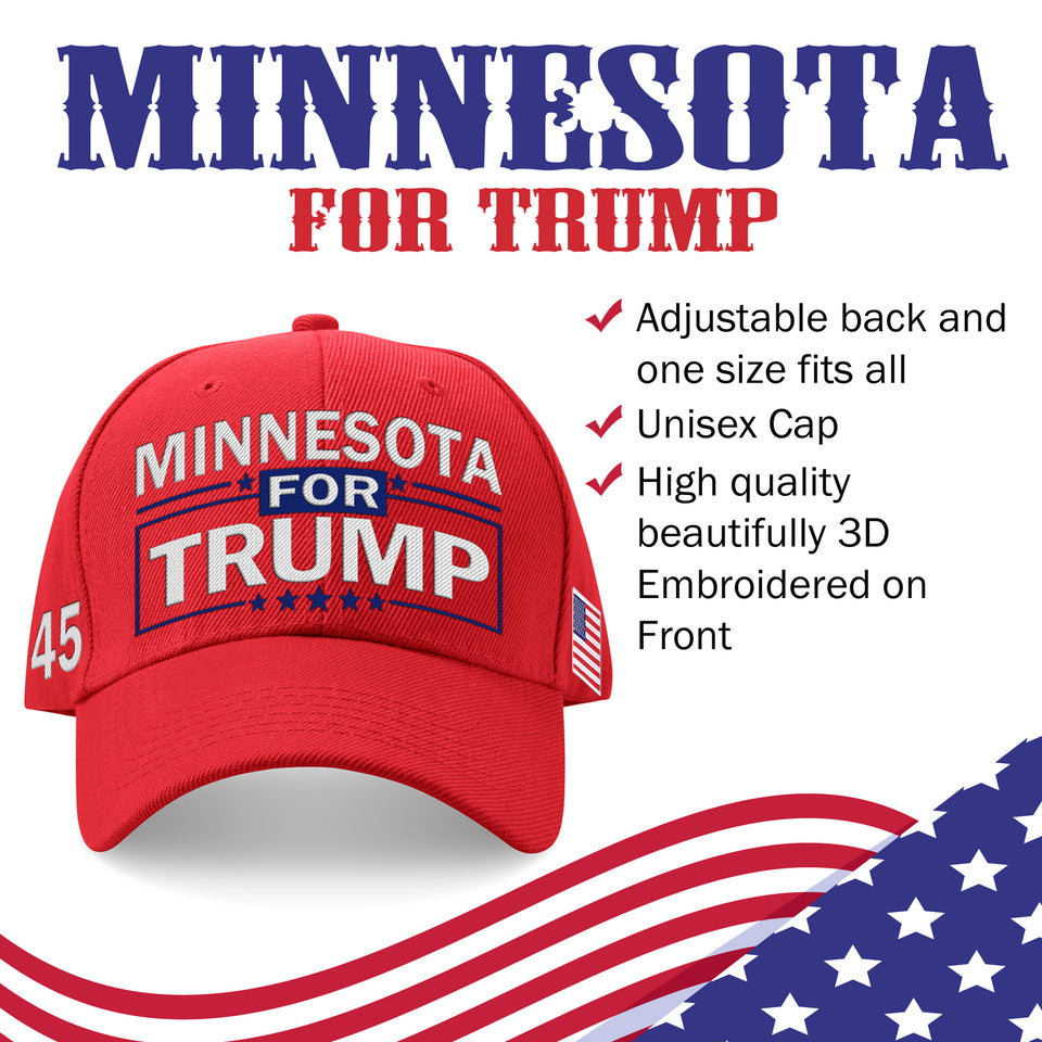Minnesota For Trump Limited Edition Embroidered Hat Lowest Price Ever!