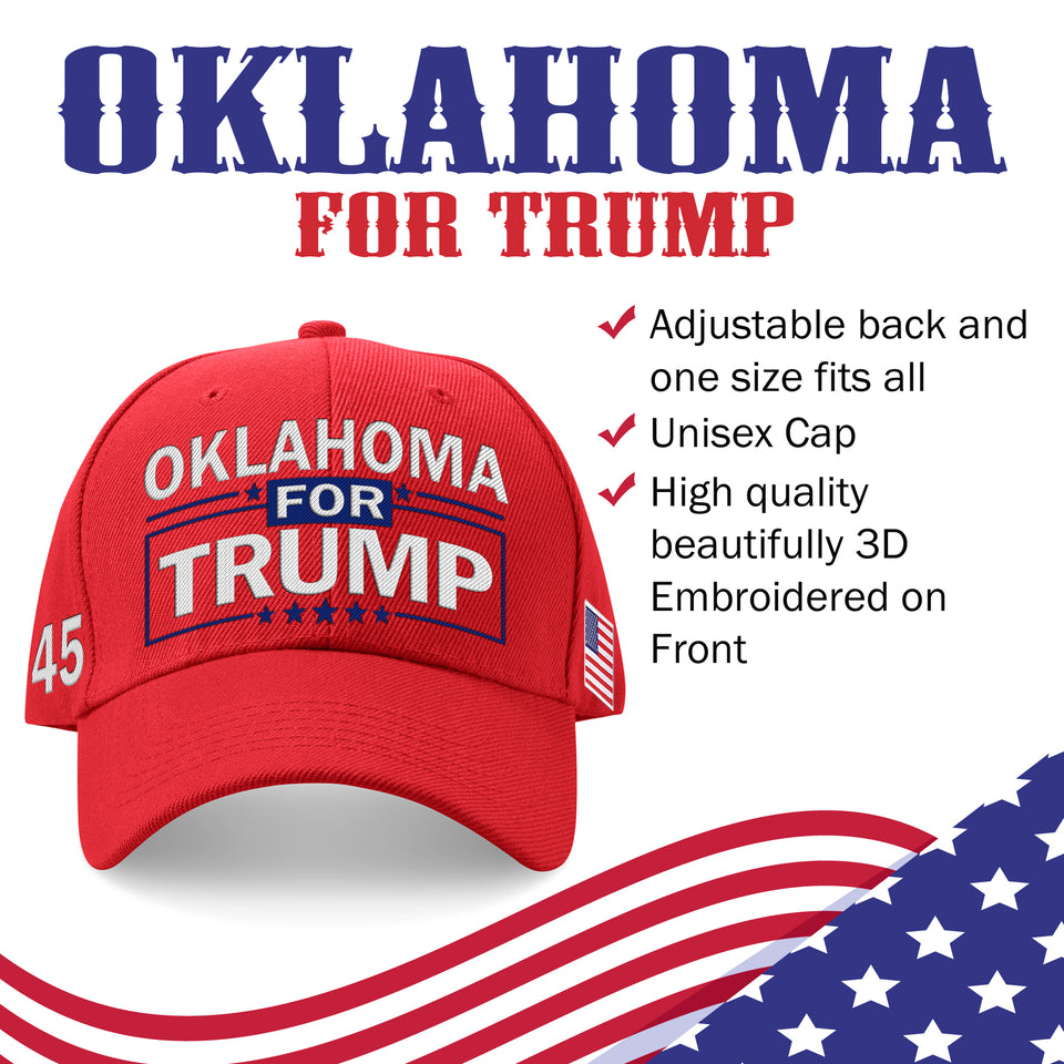 Oklahoma For Trump Limited Edition Embroidered Hat Lowest Price Ever!