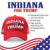 Indiana For Trump Limited Edition Embroidered Hat