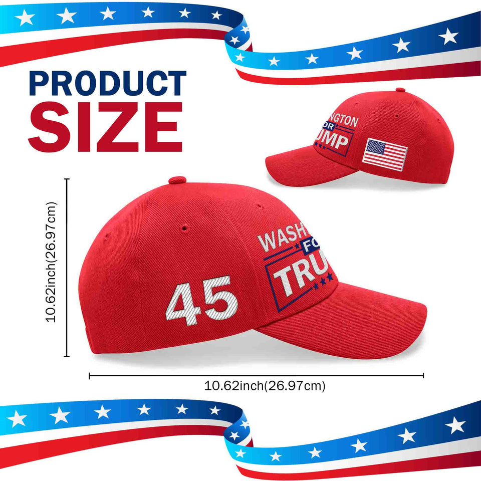 Washington For Trump Limited Edition Embroidered Hat Lowest Price Ever!