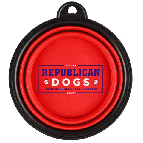 Republican Dogs Collapsible Dog Bowl