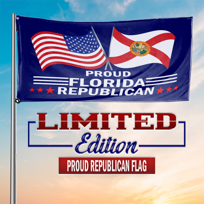 Proud Florida Republican  3 x 5 Flag - Limited Edition Flags