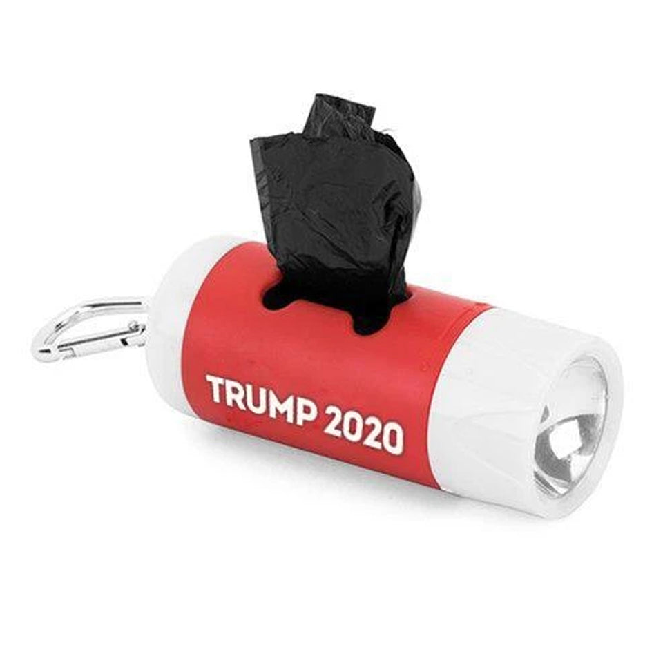 Trump 2020 Dog Waste Bag Dispenser w/ Flash Light