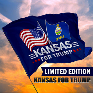 Kansas For Trump 3 x 5 Flag - Limited Edition Dual Flags