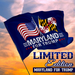 Maryland For Trump 3 x 5 Flag - Limited Edition Dual Flags
