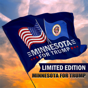 Minnesota For Trump 3 x 5 Flag - Limited Edition Dual Flags
