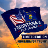 Montana For Trump 3 x 5 Flag - Limited Edition Dual Flags
