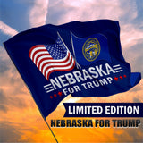 Nebraska For Trump 3 x 5 Flag - Limited Edition Dual Flags Sale