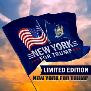 New York For Trump 3 x 5 Flag - Limited Edition Dual Flags