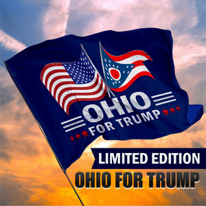 Ohio For Trump 3 x 5 Flag - Limited Edition Dual Flags