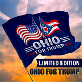 Ohio For Trump 3 x 5 Flag - Limited Edition Dual Flags Sale