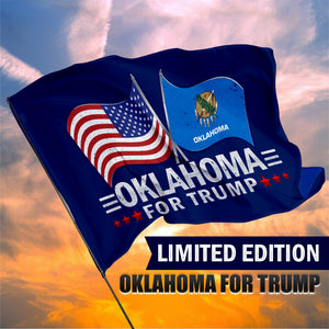 Oklahoma For Trump 3 x 5 Flag - Limited Edition Dual Flags