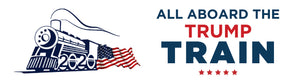 All Aboard The Trump Train Bumper Sticker