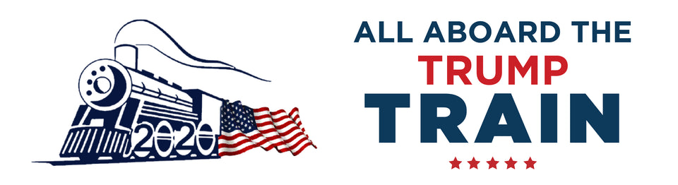 All Aboard The Trump Train Bumper Sticker Sale