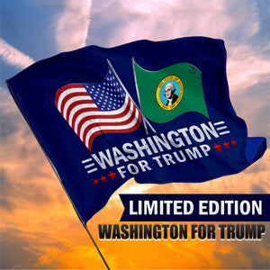 Washington For Trump 3 x 5 Flag - Limited Edition Dual Flags