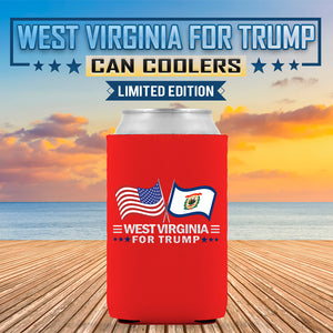 West Virginia For Trump Limited Edition Can Cooler