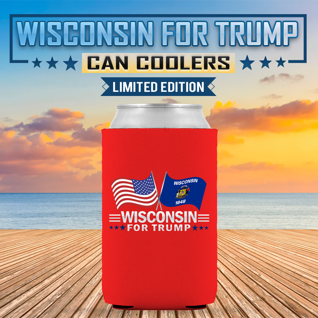 Wisconsin For Trump Limited Edition Can Cooler