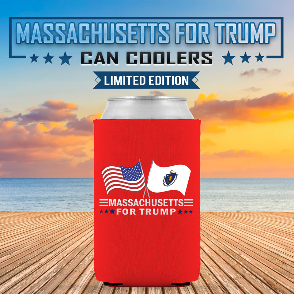 Massachusetts For Trump Limited Edition Can Cooler Lowest Price Ever!