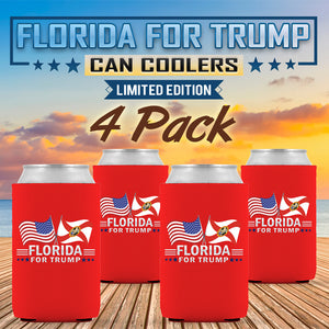 Florida For Trump Limited Edition Can Cooler 4 Pack