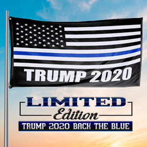 Thin Blue Line Trump 2020 American Flag - 3 x 5 Feet