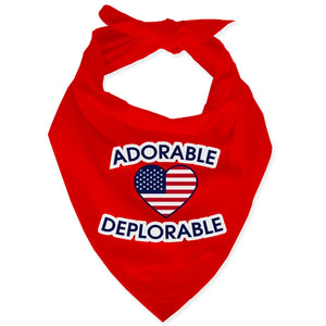 Adorable Deplorable Dog Bandana