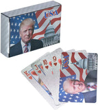 Trump 2020 Silver Plated Playing Cards
