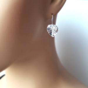 Sterling Silver Flower Earrings -- EF0008